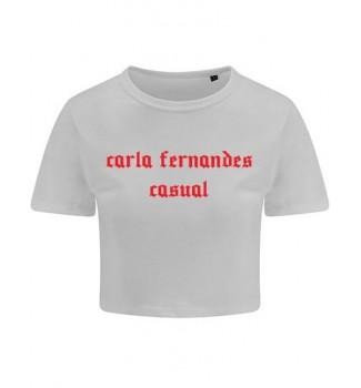 Koszulka  crop Carla Fernandes casual